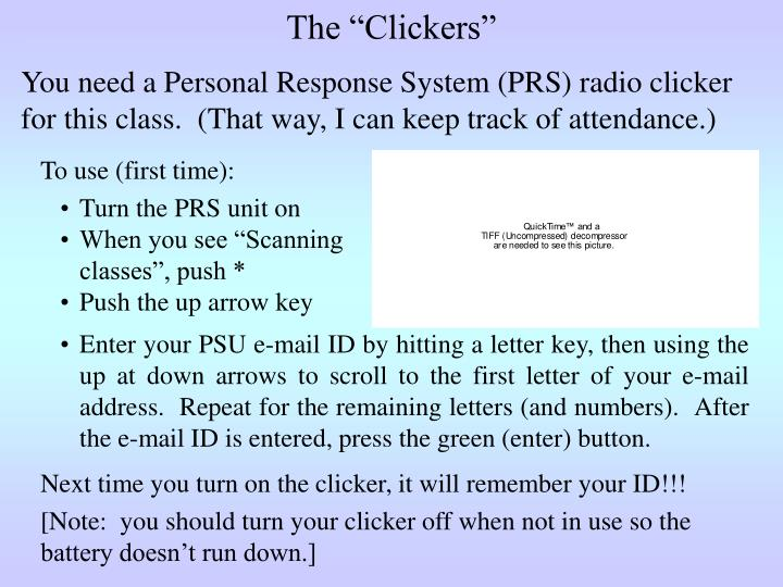 """The """"Clickers"""""""