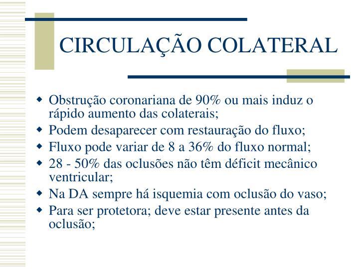 CIRCULAÇÃO COLATERAL