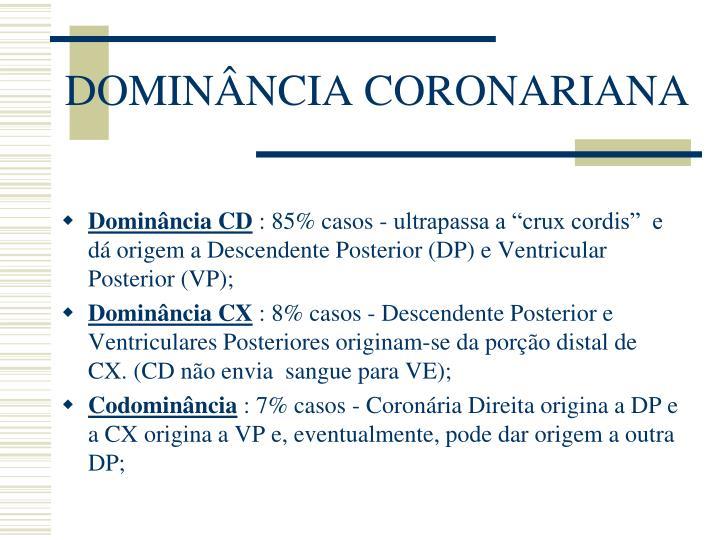 DOMINÂNCIA CORONARIANA