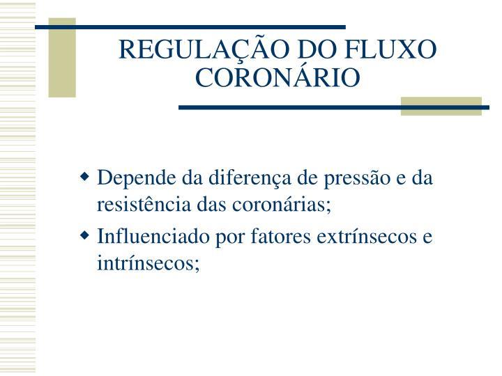 REGULAÇÃO DO FLUXO CORONÁRIO