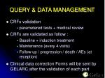 query data management