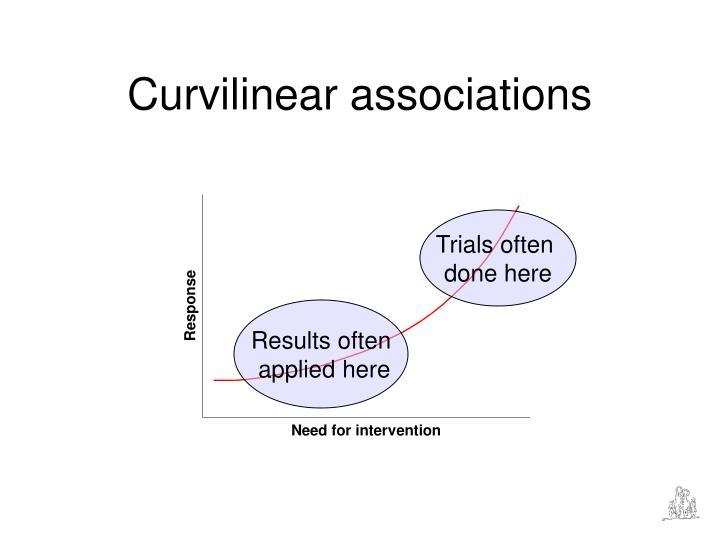 Curvilinear associations
