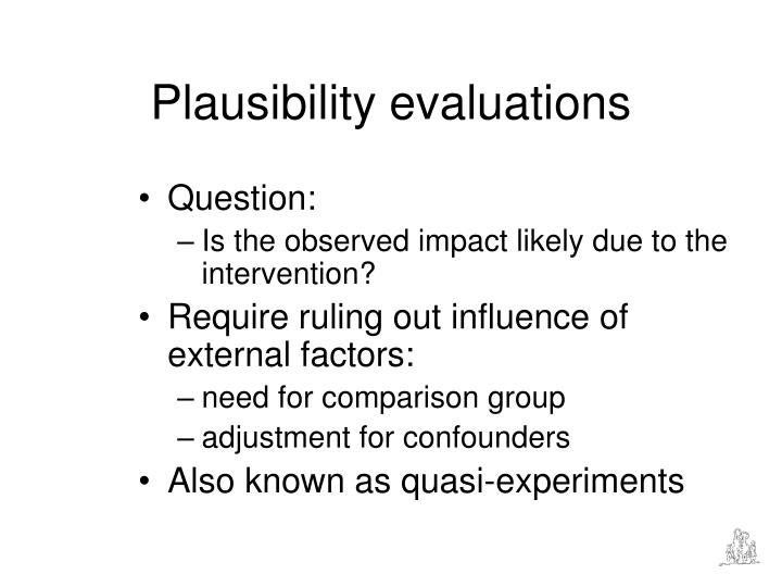 Plausibility evaluations