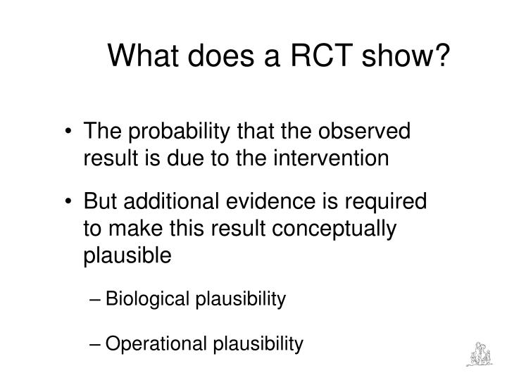 The probability that the observed result is due to the intervention