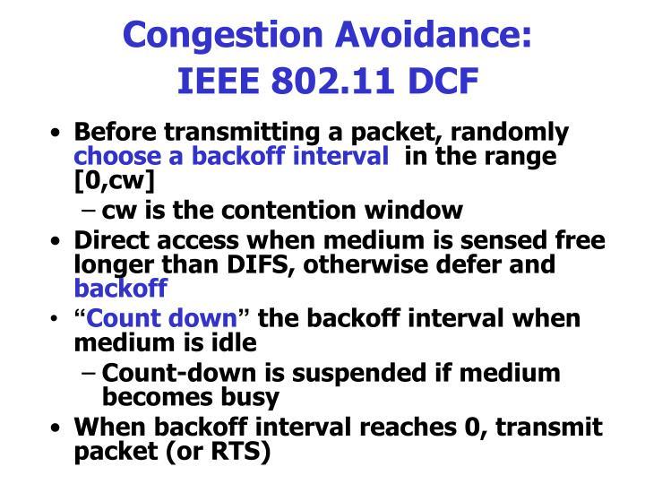 Congestion Avoidance:
