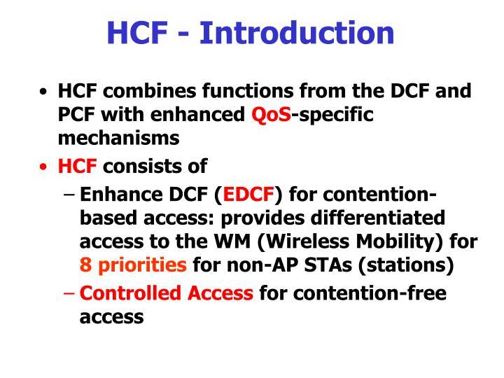 HCF - Introduction