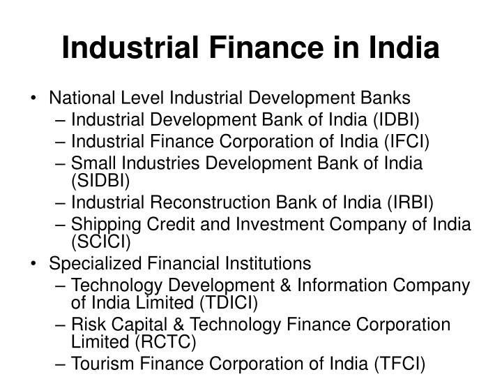 Industrial Finance in India