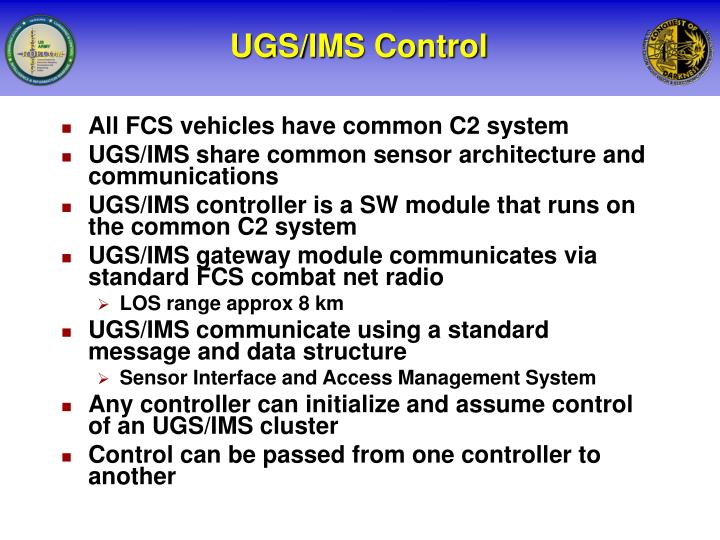 UGS/IMS Control