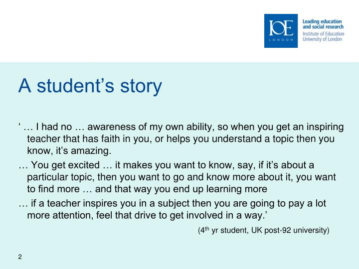 A student s story