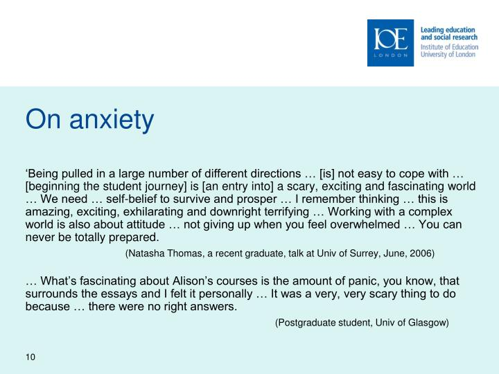 On anxiety