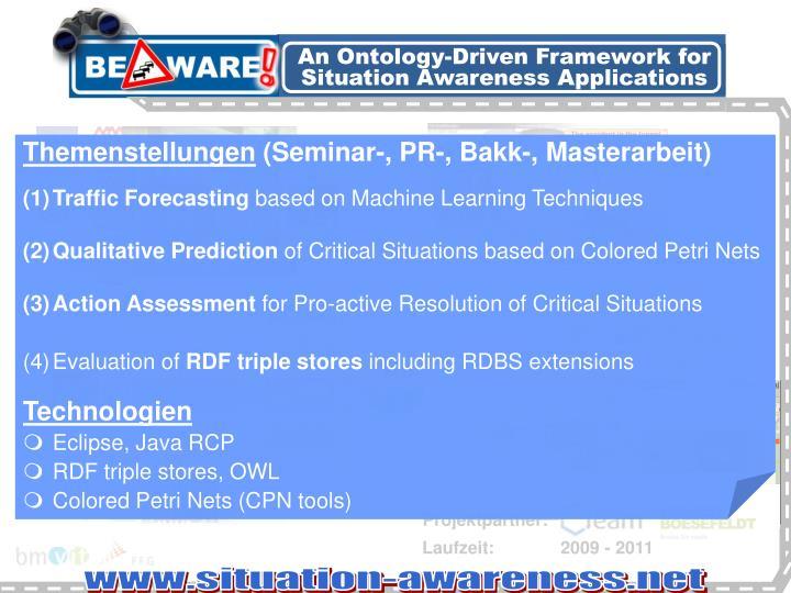 An Ontology-Driven Framework for Situation Awareness Applications