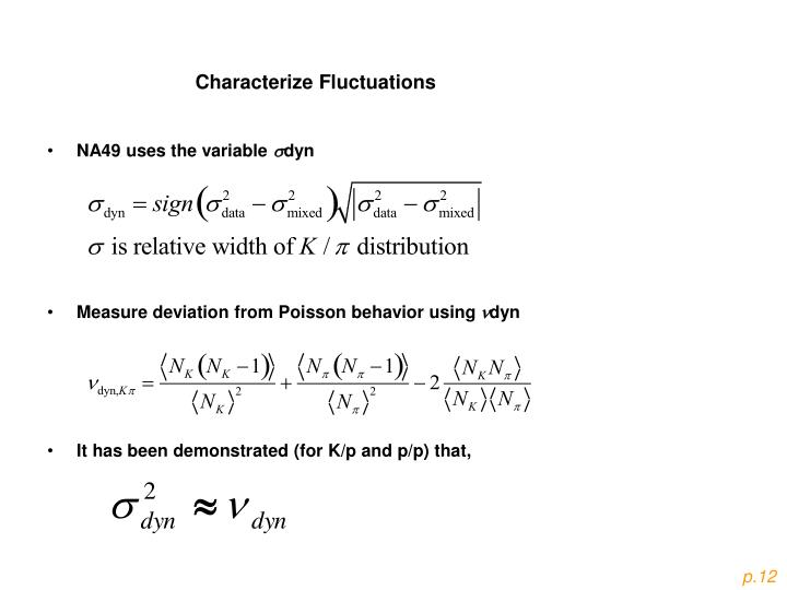Characterize Fluctuations