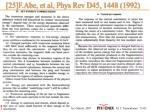 25 f abe et al phys rev d45 1448 1992