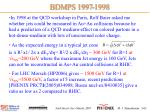 bdmps 1997 1998