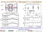 d au is it cgc monojets correlations