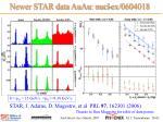 newer star data auau nucl ex 0604018