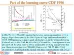 part of the learning curve cdf 1996
