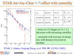 star au au clear effect with centrality