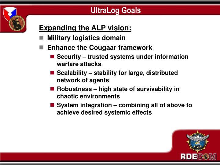UltraLog Goals