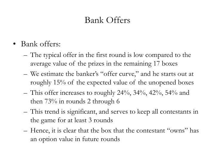 Bank Offers