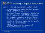 training support resources