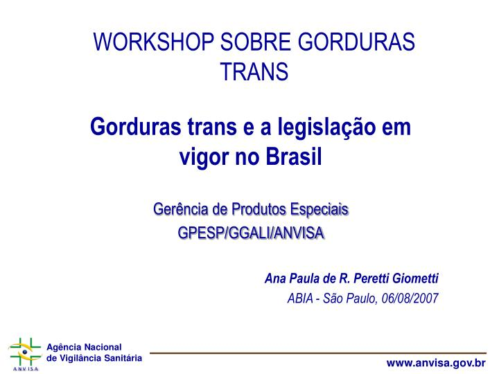 workshop sobre gorduras trans n.