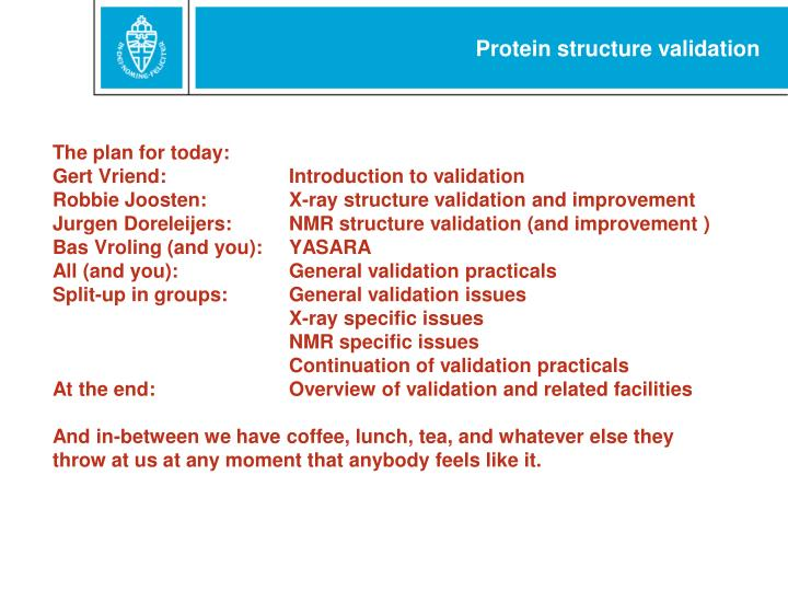Protein structure validation