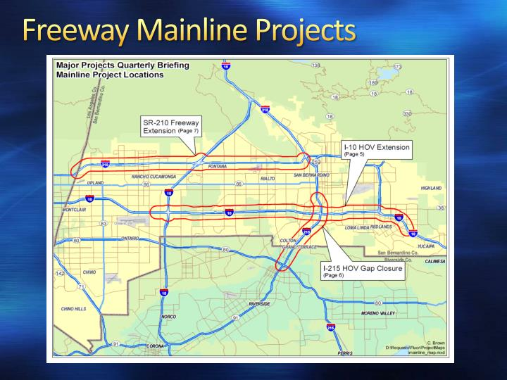 Freeway Mainline Projects