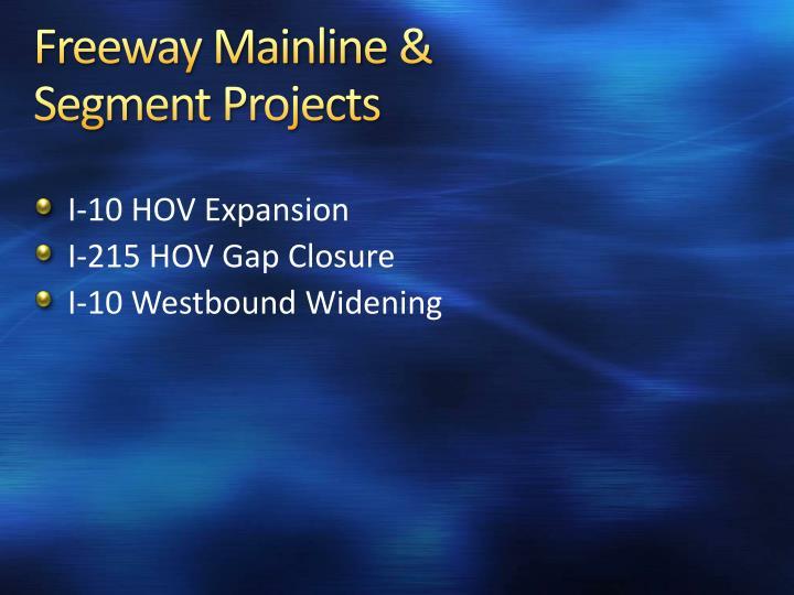 Freeway Mainline &