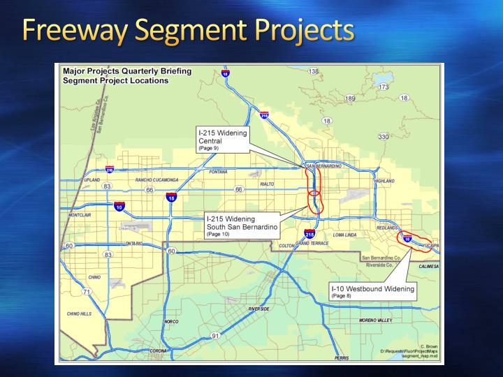 Freeway Segment Projects