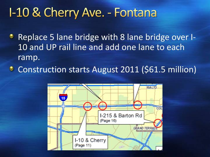 I-10 & Cherry Ave. - Fontana