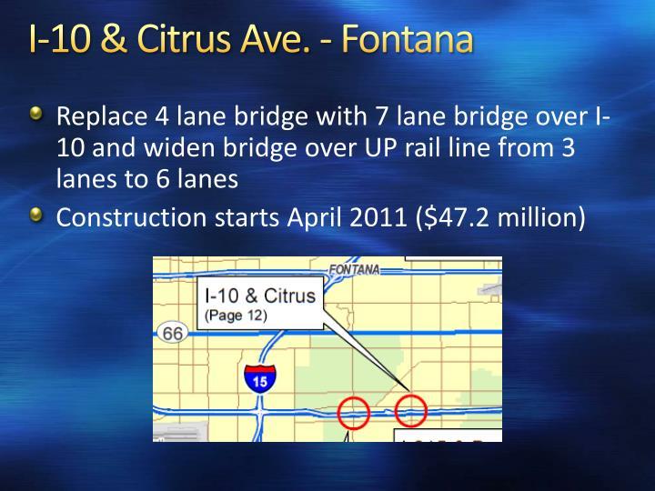 I-10 & Citrus Ave. - Fontana