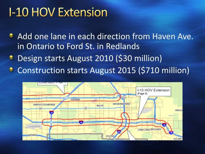 I-10 HOV Extension