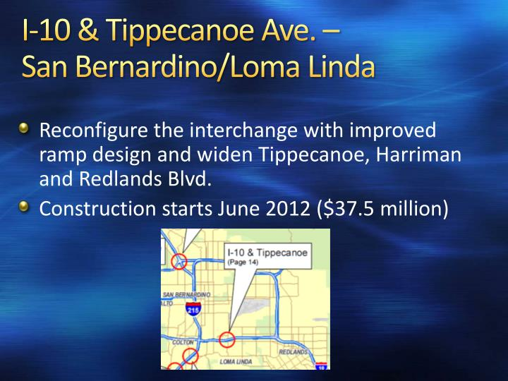 I-10 & Tippecanoe Ave. –