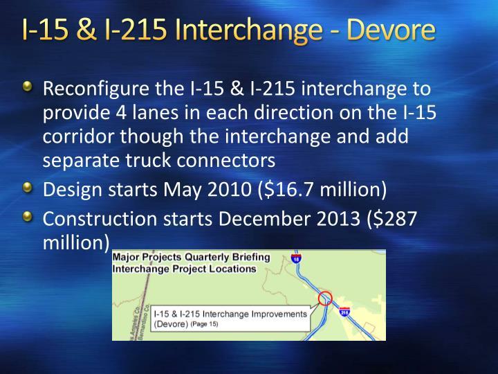 I-15 & I-215 Interchange - Devore