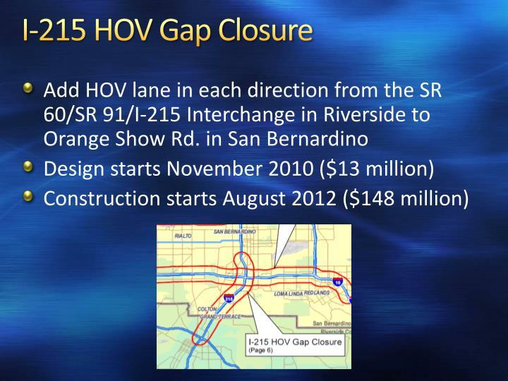 I-215 HOV Gap Closure