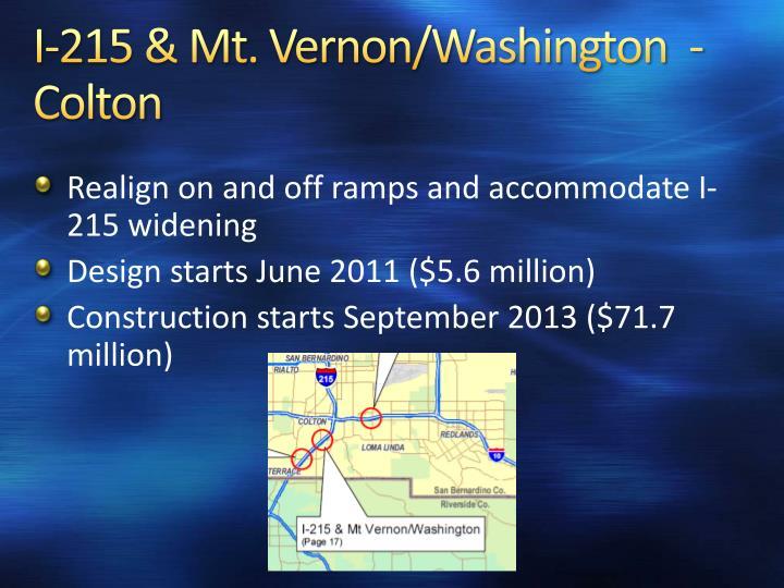 I-215 & Mt. Vernon/Washington  - Colton