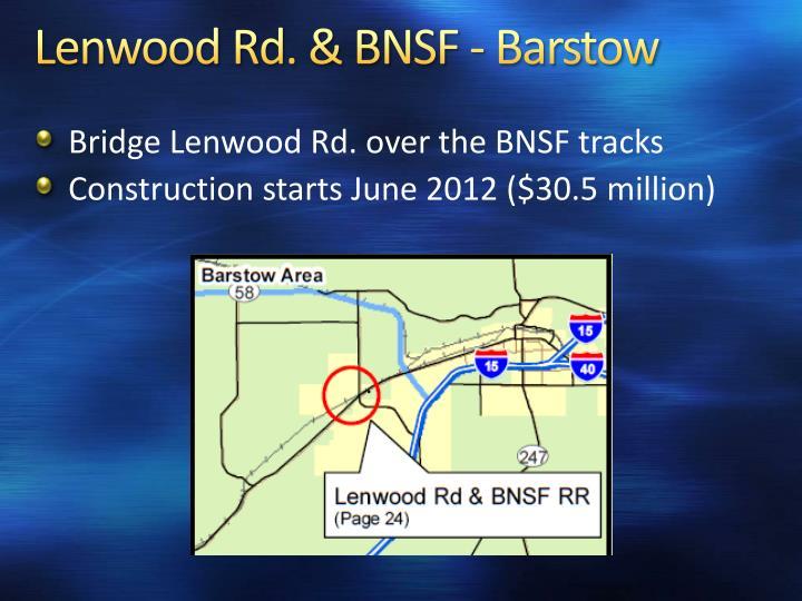 Lenwood Rd. & BNSF - Barstow