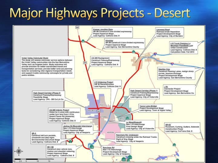 Major Highways Projects - Desert