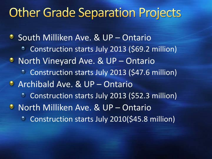 Other Grade Separation Projects
