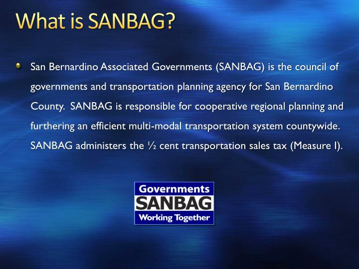 What is sanbag