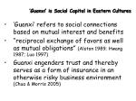guanxi is social capital in eastern cultures