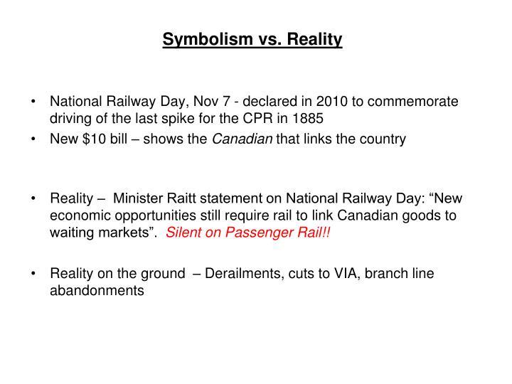 Symbolism vs reality