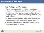 eclipse hints and tips1