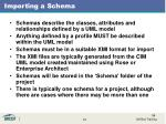 importing a schema1
