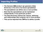 importing profiles