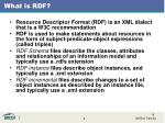 what is rdf
