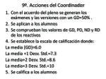 9 acciones del coordinador