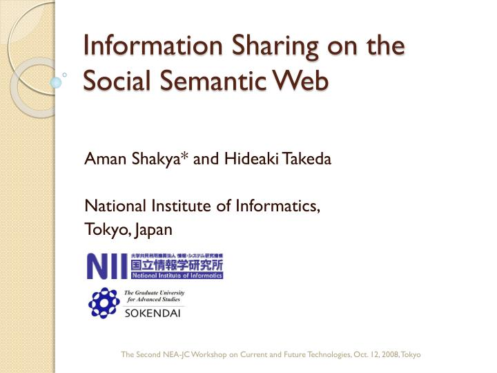 information sharing on the social semantic web n.