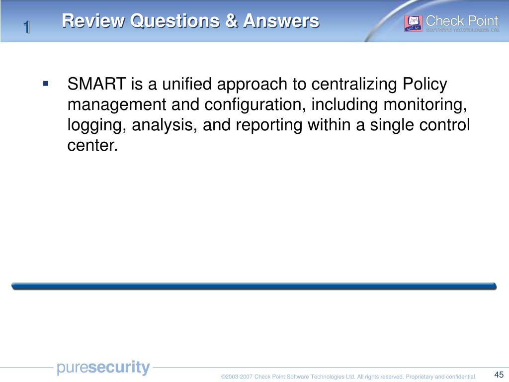 PPT - Check Point Security Administration I NGX (R65) PowerPoint